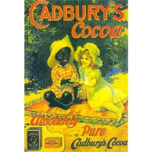Cadburys Cocoa Boy & Girl Nostalgic Postcard