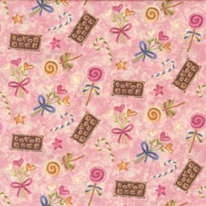 Make Mine Chocolates Candy Quilt Fabric