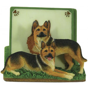 German Shepherd Dog Set of 4 Resin Drink Coasters