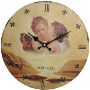 Angel Cherubs Round Wall Clock