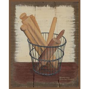 Wooden Spoons in Basket 8 x 10 Print