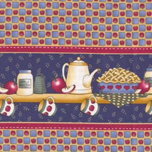 Apples Border Kitchen Quilting Fabric