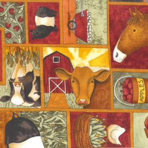 Teresa Kogut Cows Farm Animals Quilt Fabric