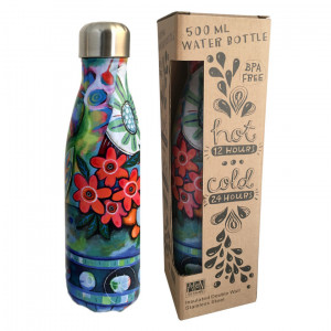Flower Blast Water Bottle Insulated Double Wall Stainless Steel