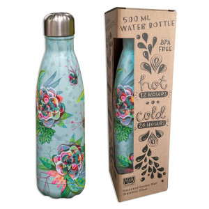 Bursting Blooms Water Bottle Insulated Double Wall Stainless Steel