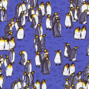 New Zealand NZ Penguins on Royal Blue Quilting Fabric