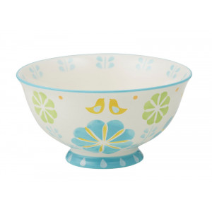 Flowers and Birds Peggy Design Ceramic Bowl