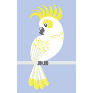Australian Cocky Cockatoo Design 100% Cotton Kitchen Tea Towel