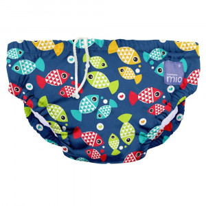 Fish Aquarium Design Reusable Baby Swim Nappy Medium by Bambino Mio