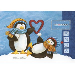 We Love Snow 5 x 7 Print