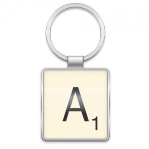 Scrabble Letter Metal Keyring