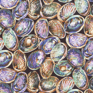 New Zealand NZ Paua Shells Quilting Fabric