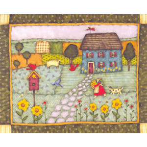 Cobblestone Path Greeting Card by Debi Hron