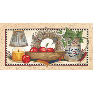 Country Punched Tin & Apples 10 x 20 Print