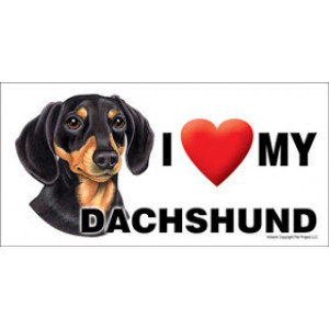 I Love My Dachshund Dog Fridge Office Fun Magnet