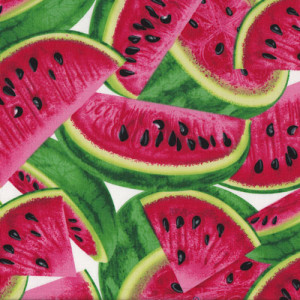 Large Watermelon Fruit Quilt Fabric
