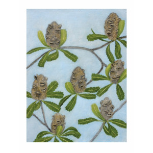 Australian Banksia Pods Greeting Card by Joseph Austin