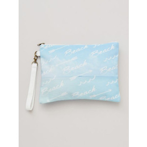 Beach Fashion Sky Blue Canvas Clutch Bag