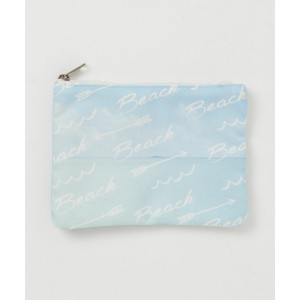 Beach Fashion Sky Blue Canvas Makeup Cosmetic Bag