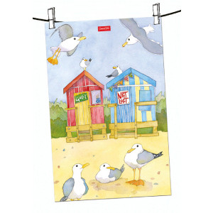 beach-huts-tea-towel