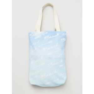Beach Fashion Sky Blue Canvas Tote Bag