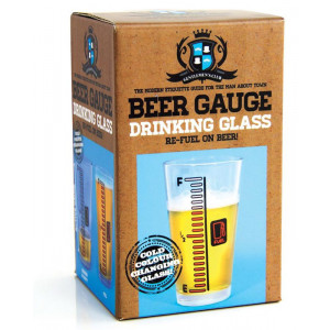 Beer Gauge Drinking Glass