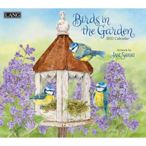 Birds in The Garden Jane Shasky 2021 Lang Wall Calendar