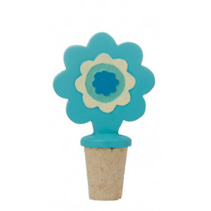 Caravanna Blue Flower Design Bottle Stopper
