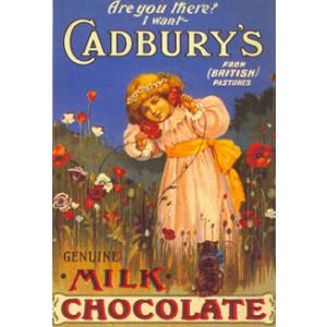 Cadburys Milk Chocolate Nostalgic Postcard