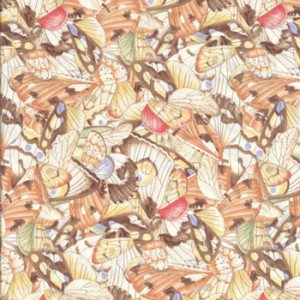 Butterfly Wings Brown Quilting Fabric