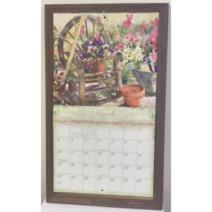 Timber Decorative Calendar Frame Holder - Ironbark