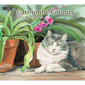 Cats in The Country Susan Bourdet 2021 Lang Wall Calendar