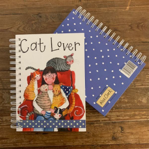 Cat Lover Hard Cover Spiral Notebook Journal By Alex Clark