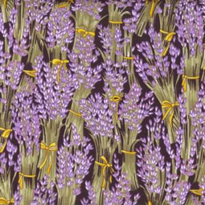 Lavender Flowers Bunches Sprigs Quilting Fabric