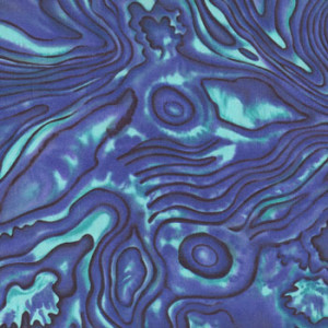 New Zealand NZ Paua Shell Blue Green Pattern Quilting Fabric