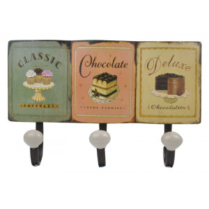 Chocolate Cake Cupcakes Design Metal Coat Hooks