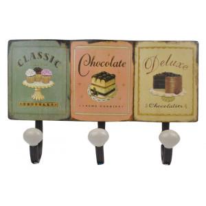 Chocolate Cake Cupcakes Design Metal Coat Hooks