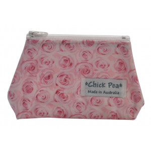 Coin Box Purse Pretty Pink Roses
