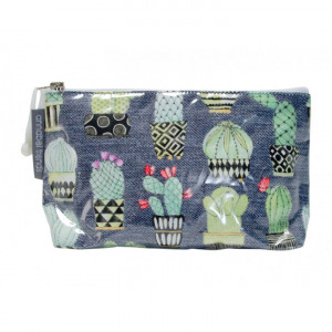 Cosmetic Makeup Toiletry Travel Bag Funky Cactus Small