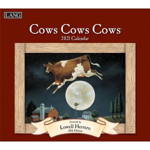 Cows Cows Cows Lowell Herrero 2021 Lang Wall Calendar