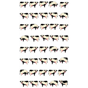 Cows in a Row 100% Cotton Kitchen Tea Towel