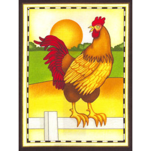 Rooster Fabric Panel