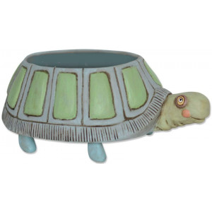 Myrtle Turtle Resin Indoor Pot Planter