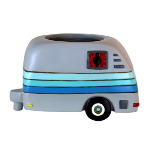 Happy Camper Caravan Resin Indoor Pot Planter