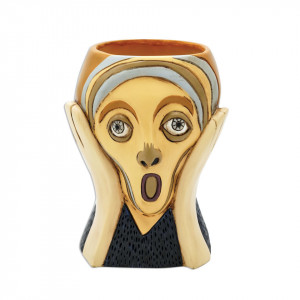 Screaming Lady Resin Indoor Pot Planter