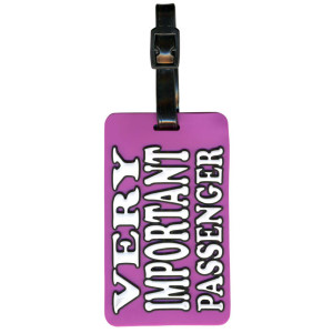 Very Important Passenger Suitcase Bag Luggage Tag