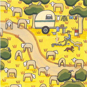 The Drover Sheep Rachael Flynn Card