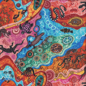 Australian Aboriginal Dilkara Quilting Fabric