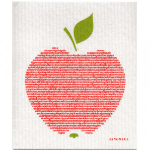 Big Apple Red Design Eco Friendly Kitchen Dishcloth
