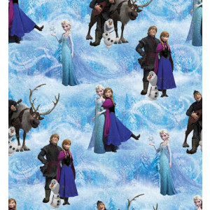 Disney Frozen Olaf Anna Elsa Girls Licensed Quilt Fabric